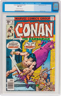 Bronze Age (1970-1979):Miscellaneous, Conan the Barbarian #76 (Marvel, 1977) CGC NM 9.4 Off-white towhite pages....