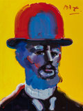 Fine Art - Painting, American, Peter Max (American, b. 1937). Toulouse Lautrec. Oil oncanvas. 48 x 35-1/2 inches (121.9 x 90.2 cm). Signed upper right...