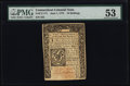 Colonial Notes:Connecticut, Connecticut June 1, 1773 10s Uncancelled PMG About Uncirculated53.. ...