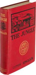 "Books:Literature 1900-up, Upton Sinclair. The Jungle. New York: The Jungle PublishingCo., [1906]. First edition, ""souvenir edition"" issue, li..."