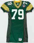 Football Collectibles:Uniforms, 1994 Aaron Taylor Green Bay Packers Game Issued Jersey. . ...