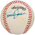Autographs:Baseballs, Travis Jackson Single Signed Baseball. ...
