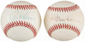 Baseball Collectibles:Balls, Detroit Tigers Legends Single Signed Baseball Pair (2) - IncludesNewhouser & Kaline. . ...