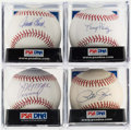 Baseball Collectibles:Balls, Reds Legends Single Signed Baseball Quartet (4) - Includes Perez,Morgan, Rose, & Bench. ...