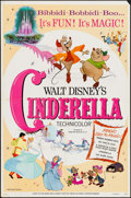 """Movie Posters:Animation, Cinderella (Buena Vista, R-1973/R-1981). One Sheets (2) (27"""" X 41""""). Animation.. ... (Total: 2 Items)"""