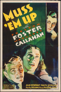 "Muss 'Em Up (RKO, 1936). One Sheet (27"" X 41""). Mystery"