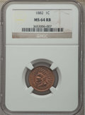1882 1C MS64 Red and Brown NGC. NGC Census: (184/128). PCGS Population: (326/123). CDN: $200 Whsle. Bid for problem-free...