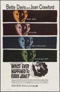 "Movie Posters:Horror, What Ever Happened to Baby Jane? (Warner Brothers, 1962). One Sheet (27"" X 41""). Horror.. ..."
