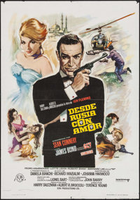 "From Russia with Love (United Artists, R-1974). Spanish One Sheet (27.5"" X 39.5""). James Bond"