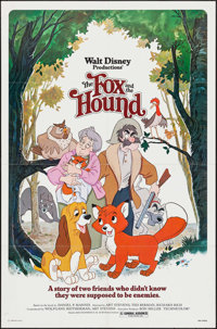 """The Fox and the Hound (Buena Vista, 1981/ R-1988). One Sheets (2) (27"""" X 41"""", 26"""" X 40"""") 2 Styles. A..."""