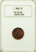 Proof Indian Cents: , 1892 1C PR65 Red NGC. NGC Census: (15/13). PCGS Population: (44/16). PR65. Mintage 2,745. ...