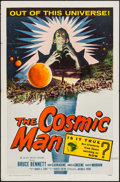 "Movie Posters:Science Fiction, The Cosmic Man (Allied Artists, 1959). Folded, Fine/Very Fine. One Sheet (27"" X 41""). Science Fiction.. ..."