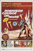 """Movie Posters:Science Fiction, Robinson Crusoe on Mars (Paramount, 1964). One Sheet (27"""" X 41""""). Science Fiction.. ..."""