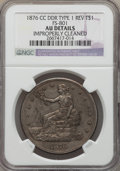Trade Dollars, 1876-CC T$1 Doubled Die Reverse -- Improperly Cleaned -- NGC Details. AU. NGC Census: (3/26). PCGS Population: (1/22). CDN:...