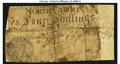 Colonial Notes:North Carolina, North Carolina March 9, 1754 4s Monogram Good.. ...