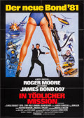 "Movie Posters:James Bond, For Your Eyes Only (United Artists, 1981). German A1 (23.25"" X33""). James Bond.. ..."