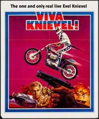 """Viva Knievel! (Warner Brothers, 1977). Promo Poster (27"""" X 32.5""""). Action"""