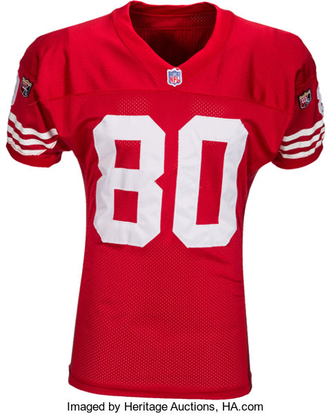 super popular 487d6 6230a 1995 Jerry Rice Signed Game Worn San Francisco 49ers Jersey ...