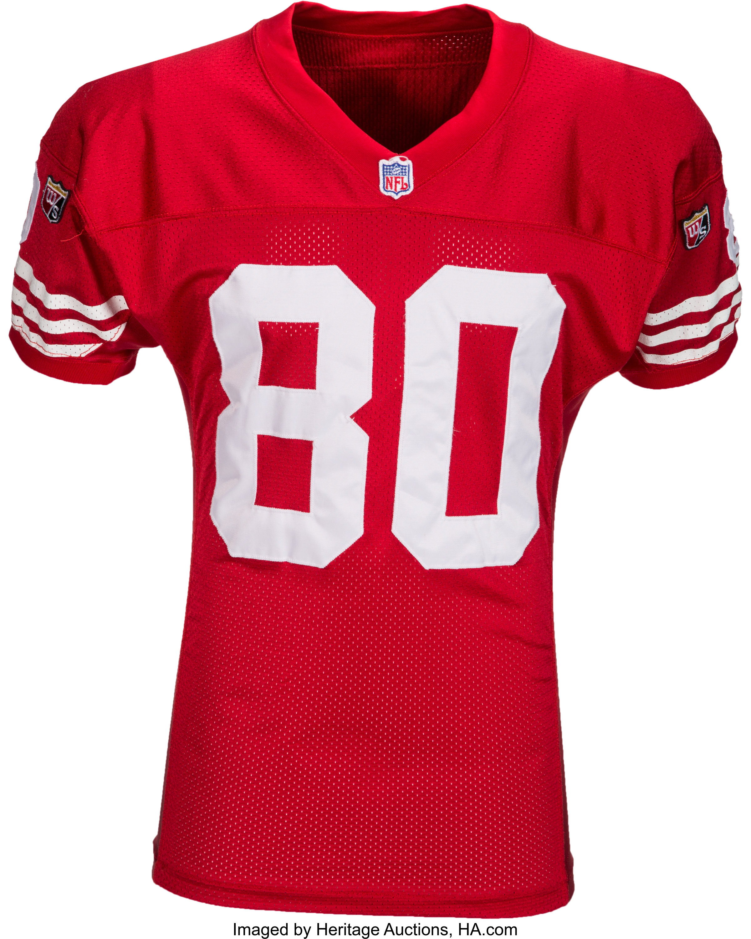 super popular 1a999 f873a 1995 Jerry Rice Signed Game Worn San Francisco 49ers Jersey ...