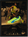 Miscellaneous Collectibles, 2015 Usain Bolt Race Worn & Signed Track Shoe from Beijing World Athletic Championships.. ...