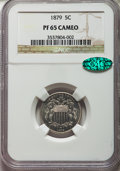 Proof Shield Nickels: , 1879 5C PR65 Cameo NGC. CAC. NGC Census: (18/23). PCGS Population: (15/23). CDN: $450 Whsle. Bid for problem-free NGC/PCGS ...