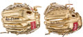 Autographs:Others, Bob Gibson and Carl Yastrzemski Signed Mini Gold Gloves Lot of2....