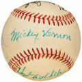 Autographs:Baseballs, Baseball Greats Multi-Signed Baseball.. ...