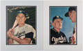 Autographs:Photos, Casey Stengel and Gil Hodges Signed Photograph Displays Lot of2....