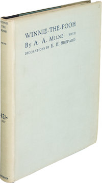 A. A. Milne. Winnie-the-Pooh. London: Methuen & Co., [1926]. First edition, limited issue on ha