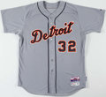 Baseball Collectibles:Uniforms, 2015 Tom Gorzellany Game Worn Detroit Tigers Jersey with MLB Hologram. ...