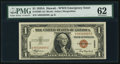 Small Size:World War II Emergency Notes, Fr. 2300 $1 1935A Hawaii Silver Certificate. A-C Block. PMG Uncirculated 62.. ...