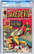 Silver Age (1956-1969):Superhero, Daredevil #2 (Marvel, 1964) CGC NM 9.4 Off-white to white pages....