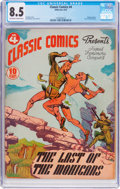 Golden Age (1938-1955):Classics Illustrated, Classic Comics #4 The Last of the Mohicans (Gilberton, 1942) CGCVF+ 8.5 Off-white to white pages....