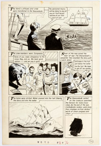 """Pete Morisi Classics Illustrated Special Issue #162 """"The War Between The States"""" Page 76 Original Art (Gilbert..."""