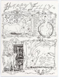 "Original Comic Art:Complete Story, Dame Darcy Meat Cake V2#1 Complete 1-Page Story ""Happy Filly"" Original Art (Fantagraphics, 1993)...."