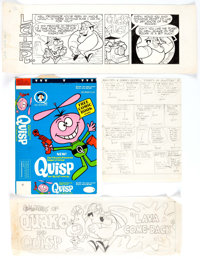 Al Kilgore - Quisp and Quake Cereal Premium Original Art and Production Materials Group of 40 (Quaker, 1965).... (Total:...