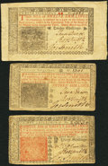 Colonial Notes:New Jersey, New Jersey March 25, 1776 12s; 15s; 30s Fine or Better.. ...(Total: 3 notes)