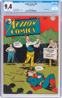 Action Comics #99 (DC, 1946) CGC NM 9.4 White pages