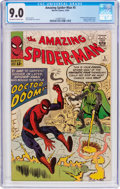 Silver Age (1956-1969):Superhero, The Amazing Spider-Man #5 (Marvel, 1963) CGC VF/NM 9.0 Off-white towhite pages....
