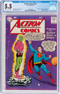 Action Comics #242 (DC, 1958) CGC FN- 5.5 Off-white to white pages