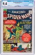Silver Age (1956-1969):Superhero, The Amazing Spider-Man #9 (Marvel, 1964) CGC NM 9.4 White pages....