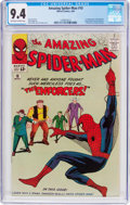 Silver Age (1956-1969):Superhero, The Amazing Spider-Man #10 (Marvel, 1964) CGC NM 9.4 Off-white towhite pages....