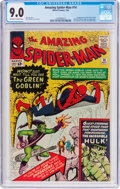 Silver Age (1956-1969):Superhero, The Amazing Spider-Man #14 (Marvel, 1964) CGC VF/NM 9.0 Off-whiteto white pages....