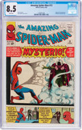 Silver Age (1956-1969):Superhero, The Amazing Spider-Man #13 (Marvel, 1964) CGC VF+ 8.5 White pages....