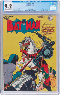Batman #36 (DC, 1946) CGC NM- 9.2 Off-white to white pages