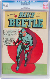 Blue Beetle #26 Pennsylvania Pedigree (Fox Features Syndicate, 1943) CGC NM 9.4 Cream to off-white pages