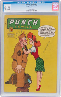 Punch Comics #17 (Chesler, 1946) CGC NM- 9.2 White pages
