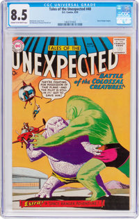 Tales of the Unexpected #40 (DC, 1959) CGC VF+ 8.5 Cream to off-white pages