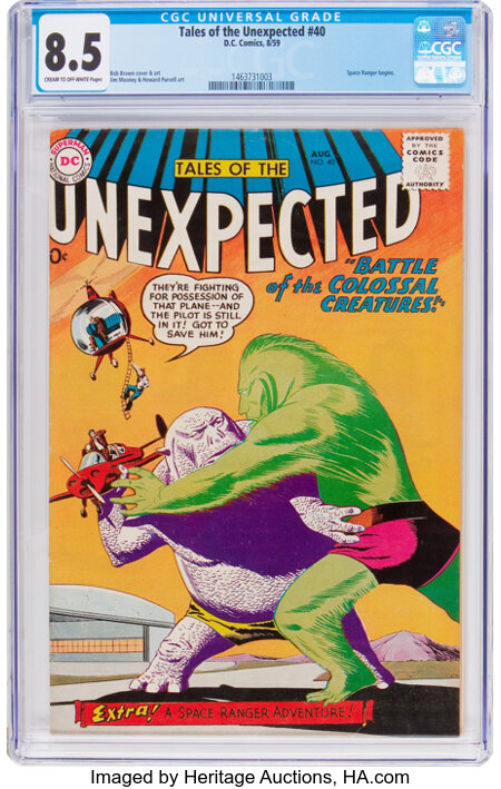 Tales of the Unexpected #40 (DC, 1959) CGC VF+ 8.5 Cream to off-white pages....