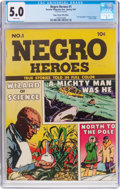 Golden Age (1938-1955):Non-Fiction, Negro Heroes #1 Mile High Pedigree (Parents' Magazine Institute,1947) CGC VG/FN 5.0 White pages....